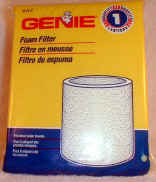Genie Shop Vac Foam Filter Part #27411R